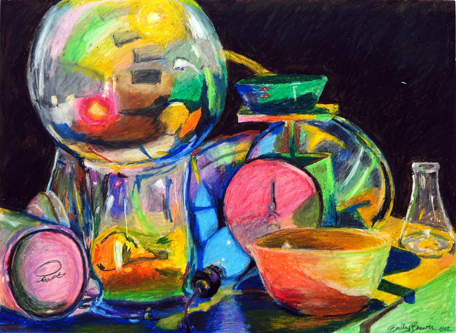 Oil Colors Drawing Emily Brewer Oil Pastel Large