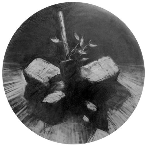 Beautiful Collision, graphite on paper, 2009.